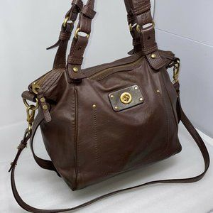 Marc Jacobs Large Brown Leather Double Handle Tote